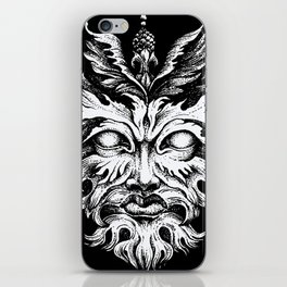 Green Man iPhone Skin