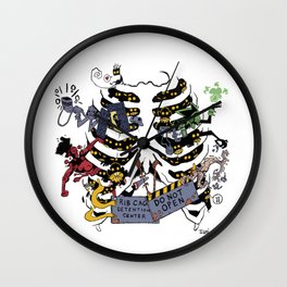 Rib Cage Detention Center Wall Clock