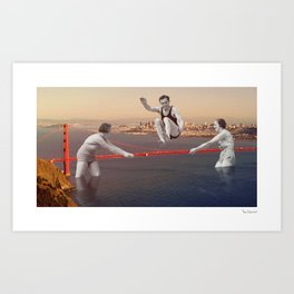 Jumping Art Print
