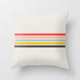 Naomori - Classic Minimal Retro Stripes Throw Pillow