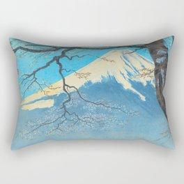 Tokuriki Tomikichiro Thirty Six Views of Mt Fuji From Harajiku Pine Forest Japanese Rectangular Pillow