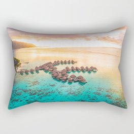 Bora bora Tahiti honeymoon beach resort vacation Rectangular Pillow