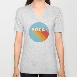 Yoga retro typography Unisex V-Neck