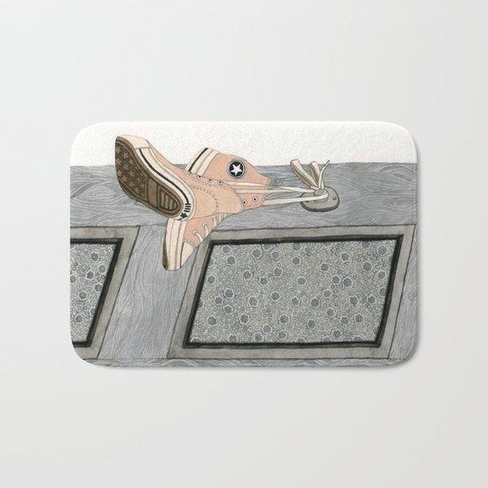 Pink Chucks Bath Mat