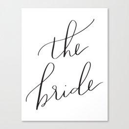 the bride Canvas Print