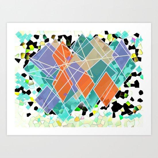 diamond in the sun Art Print