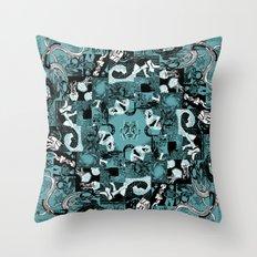 Summer Relief - seafoam Throw Pillow