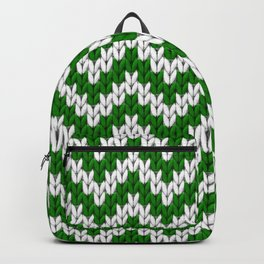 Green Christmas knitted chevron large scale Backpack