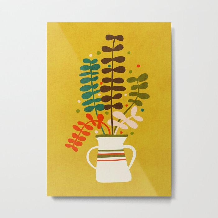 Potted Leaves Metal Print
