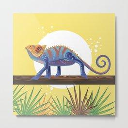 Lizard Sun Metal Print