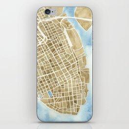Charleston, South Carolina City Map Art Print iPhone Skin