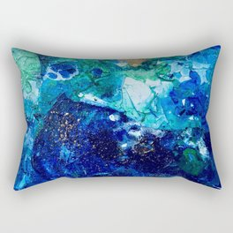 Look Down As The Rain Falls Into The Sea Rectangular Pillow