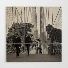 Old Time Godzilla vs. King Kong Wood Wall Art