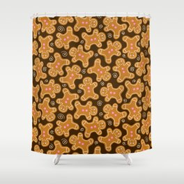 Gingerbread Men Pattern Shower Curtain