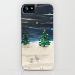 Christmas Snowy Winter Landscape iPhone Case
