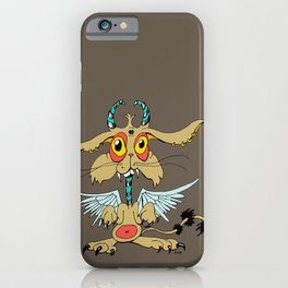 Evil Flying Feline Jackalope  iPhone Case