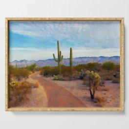 Arizona Landscape Serving Tray