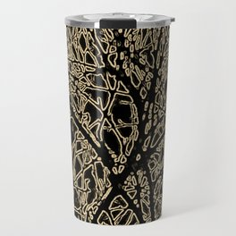 Tangled Tree Branches in Black and Sepia Travel Mug