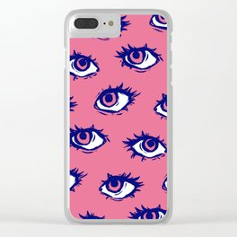 Stay Weird (Pink) Clear iPhone Case