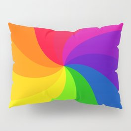 Color wheel pin wheel Pillow Sham