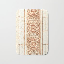 carved stonework Bath Mat