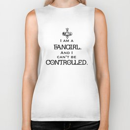 Uncontrollable Fangirl with Fandom Symbol Biker Tank