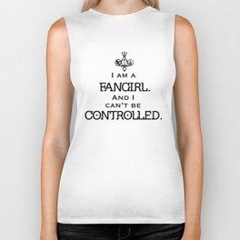 Uncontrollable Fangirl with Fandom Symbol Biker Tank