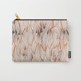Rose Gold Waves Carry-All Pouch
