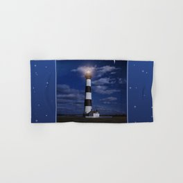 Night at Bodie Island Light Hand & Bath Towel