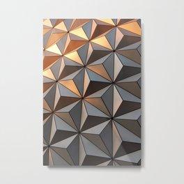 Triangle pattern 3d Metal Print