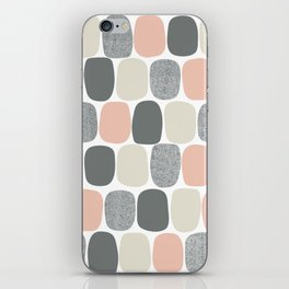 Wonky Ovals in Pink iPhone Skin