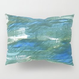 Wintergreen Dream abstract watercolor Pillow Sham