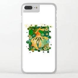 Happy Norooz Persian New Year Goldfish In Green Sea Clear iPhone Case