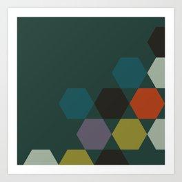 cluster || green night Art Print