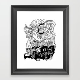 B is for Bones Framed Art Print