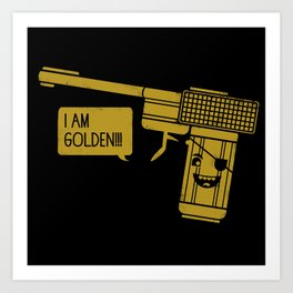 Dangerously Golden Art Print