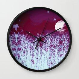 Eerie Moon Wall Clock