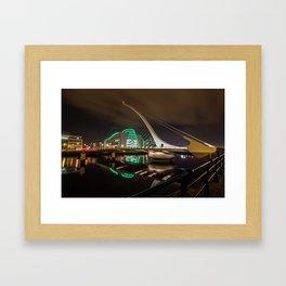 Samuel Beckett Bridge Framed Art Print