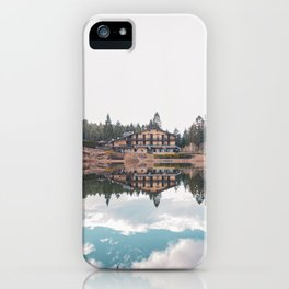mirrored lake iPhone Case