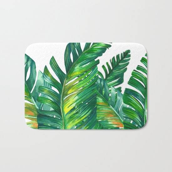 tropical green 2 Bath Mat