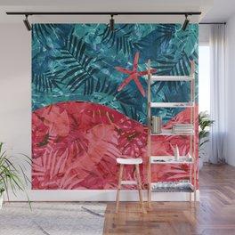 Summer Beach Tropical Pattern Wall Mural