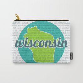 Words of Wisconsin Carry-All Pouch