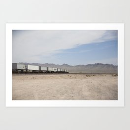 Vidal Train Crossing Art Print