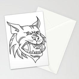Bobcat American Football Mono Line Stationery Cards