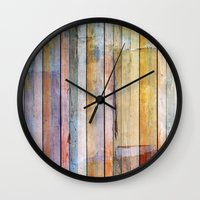 pastel Wall Clocks featuring Pastel by Rafael&Arty