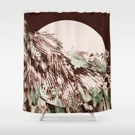 feather texture on circle Shower Curtain