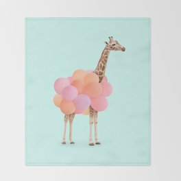 GIRAFFE PARTY Throw Blanket