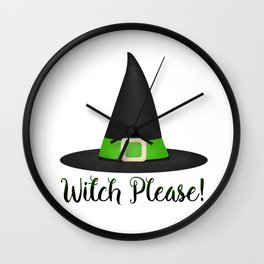 Witch Please! Wall Clock