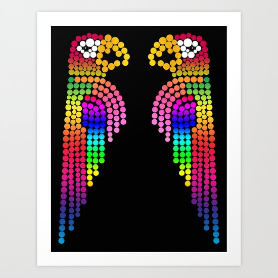 The Lovebirds Art Print