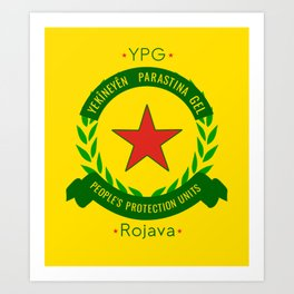 YPG, People's Protection Units Art Print